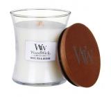 WoodWick White Tea & Jasmine - Bílý čaj a Jasmín vonná svíčka s dřevěným knotem a víčkem sklo velká 609,5 g