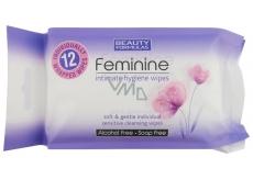 Beauty Formulas Feminine vlhčené ubrousky pro intimní hygienu 12 kusů