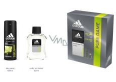 Adidas Pure Game voda po holení 100 ml + deodorant sprej pro muže 150 ml, kosmetická sada