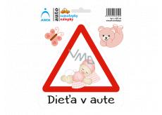 Arch Autosamolepka Dieťa v aute - batole holčička SK 15 x 17,5 cm