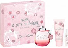 Coach Floral Blush parfémovaná voda pro ženy 90 ml + parfémovaná voda 7,5 ml + tělové mléko 100 ml, dárková sada