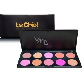 Be Chic! Charming Blush kosmetická paleta 10 tvářenek