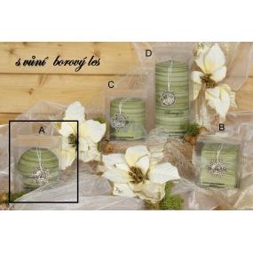 Lima Wellness Present Borový les aroma svíčka zelená koule 80 mm 1 kus