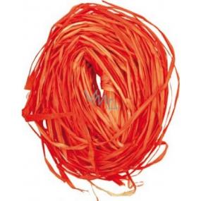 Raffia oranžová nabarvené lýko k dekoraci 30 g
