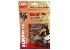 Huhubamboo Pravý hovězí steak přírodní masová pochoutka pro psy 75 g