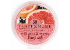 Heart & Home Svěží grep a černý rybíz Sojový přírodní vonný vosk 27 g