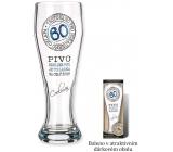Nekupto Dárky s humorem Pivní sklenice humorné Výročí 60 0,6 l