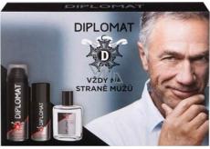 Astrid Diplomat Classic voda po holení pro muže 100 ml + pěna na holení 250 ml + deodorant sprej 150 ml, kosmetická sada