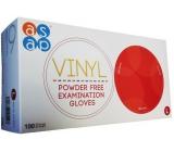 Asap Rukavice vinyl jednorázové nepudrované vyšetřovací velikost L box 100 kusů