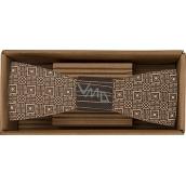 Bohemia Gifts & Cosmetics Dřevěný motýlek Kostky 12,5 cm