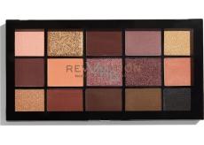 Makeup Revolution Re-Loaded paletka očních stínů Velvet Rose 15 x 1,1 g
