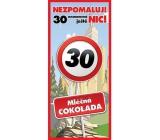 Bohemia Gifts Mléčná čokoláda Vše nejlepší 30, dárková 100 g
