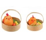Kuřátka v košíčku 5 cm, 2 kusy oranžová