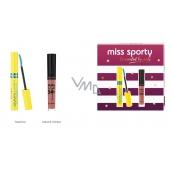 Miss Sporty Studio Lash 3D Volumythic řasenka 001 Black 8 ml + Matte to Last 24h Lip Cream tekutá rtěnka 200 Lively Rose 3,7 ml, kosmetická sada