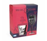 Albi Můj bar Dámská sada hrnek Ranní káva 300 ml a sklenička Večerní víno 220 ml
