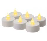 Emos Svíčky LED svítící jantarové, 3,8 cm, 6 kusů bílé
