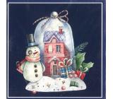 Nekupto Vánoční kartičky na dárky Sněhulák 6,5 x 6,5 cm 6 kusů