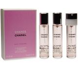 Chanel Chance Eau Tendre toaletní voda náhradní náplň pro ženy 3 x 20 ml