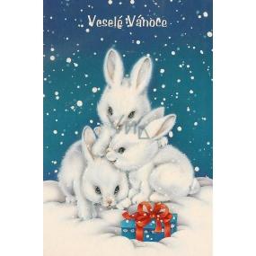 Nekupto Blahopřání Veselé Vánoce-zajíčci