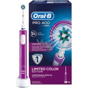 Oral-B Pro 400 CrossAction Purple elektrický zubní kartáček 1 kus