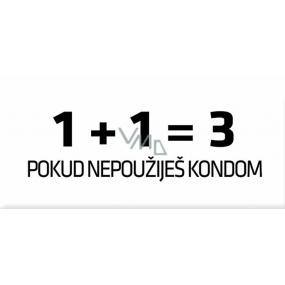 Bohemia Love Condoms dárkový kondom 1 plus 1 rovná se 3 1 kus