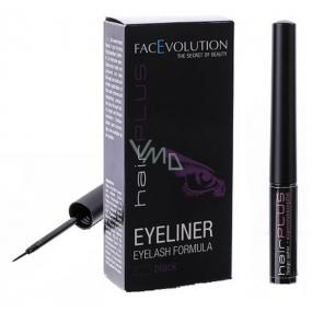 FacEvolution Hairplus Eyeliner Vyživující tekuté oční linky s třpytkami, 4,5 ml