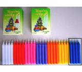 Romantické světlo Vánoční svíčky krabička hoření 90 minut modré 12 kusů