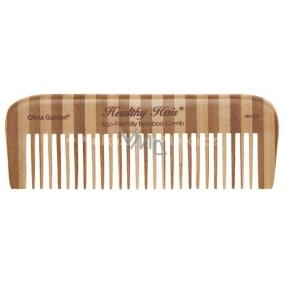 Olivia Garden Bamboo Healthy Hair Comb 4 bambusový hřeben, délka 15 cm, šířka 5 cm, délka zubů 3 cm, 3 zuby na 1 cm