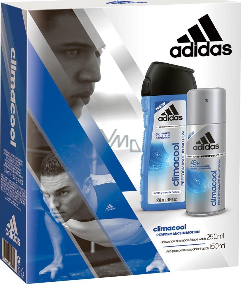 Adidas Climacool deodorant antiperspirant spray for men 150 ml Climacool 3 in 1 shower gel 250 ml, cosmetic set