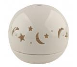 Svícen porcelánový, koule hvězdná obloha 9,5 cm
