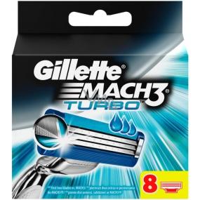 Gillette Mach3 Turbo náhradní hlavice 8 kusů