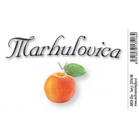 Arch Samolepka Marhulovica velká etiketa 8,5 x 5,5 cm SK
