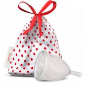 LadyCup Menstruační kalíšek transparentní, velký L + Milton sterilizační tablety