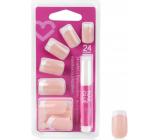 Diva & Nice Nalepovací nehty francouzská manikúra s lepidlem 24 kusů NFD03-CBP