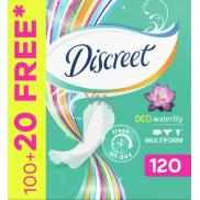 Discreet Deo Waterlily slipové intimní vložky pro každodenní použití 120 kusů
