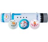 Bomb Cosmetics Frosty The Snowman Cracker šumivý balistik do koupele 3 x 160 g, kosmetická sada