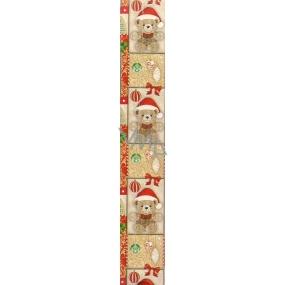 Nekupto Vánoční balicí papír světle hnědý Medvídek 5 x 0,7 m