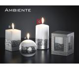 Lima Ambiente svíčka bílá válec 80 x 150 mm 1 kus
