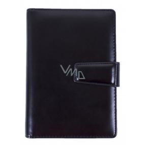 Albi Diář manažer koženka Černý B6 12,5 cm × 18,5 cm × 2,5 cm