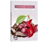 Bispol Aura Chocolate Cherry - Čokoláda a třešně vonné čajové svíčky 6 kusů