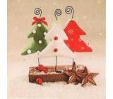 Nekupto Papírové ubrousky vánoční šedo-bílé stromečky 3 vrstvé 33 x 33 cm 20 kusů