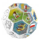 Monumi Skládací fotbalový míč skládačka k vymalování pro děti 5+ výška: 78,5 cm
