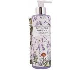 Bohemia Gifts & Cosmetics Botanica Levandule s olivovým olejem, extraktem z bylin a jogurtovou aktivní složkou tekuté mýdlo dávkovač 250 ml