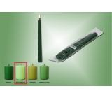 Lima Svíčka zelená hrášková kužel 22 x 250 mm 2 kusy