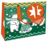 Nekupto Dárková papírová taška luxusní 18 x 16 cm Vánoční WLIS 1740