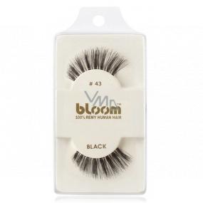 Bloom Natural nalepovací řasy z přírodních vlasů obloučkové černé No.043