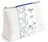 Dove Beauty For All Deeply Nourishing sprchový gel 250 ml + Original antiperspirant deodorant stick 40 ml + Essential Care tělové mléko 250 ml + etue, kosmetická sada