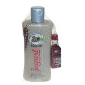 Bohemia Gifts Čokoláda Jogurtový sprchový gel 250 ml a likér 0,02 l, kosmetická sada