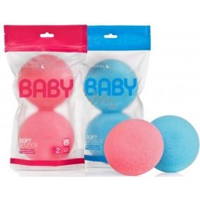 Suavipiel Baby jemná mycí plovoucí houba pro děti růžová 2 kusy