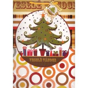 Nekupto Dárková papírová taška velká 889 01 WBL Veselé Vánoce 32,5 x 26 x 13 cm